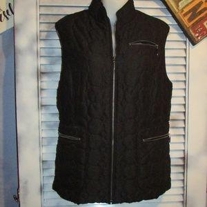 Aeros Med quilted black puffer vest jacket
